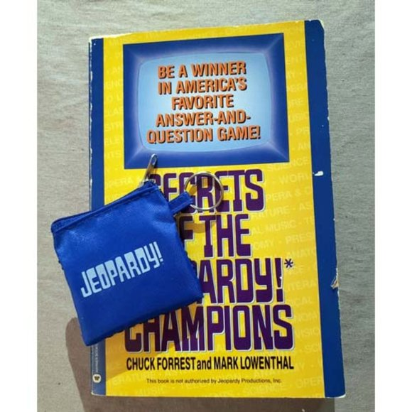 Jeopardy! Vintage Book + New Keychain Tryout Swag